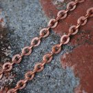 "20"" Vintage Copper Plated Cable Chain Necklace Medium Heavy Weight 20 inches"