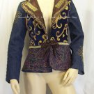 VANITY COLLECTION Tie-Front Crown Patchwork Jacket 128-018