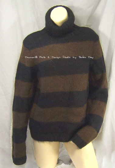 Lucky Brand Jeans RETRO MOHAIR Stripe SWEATER L