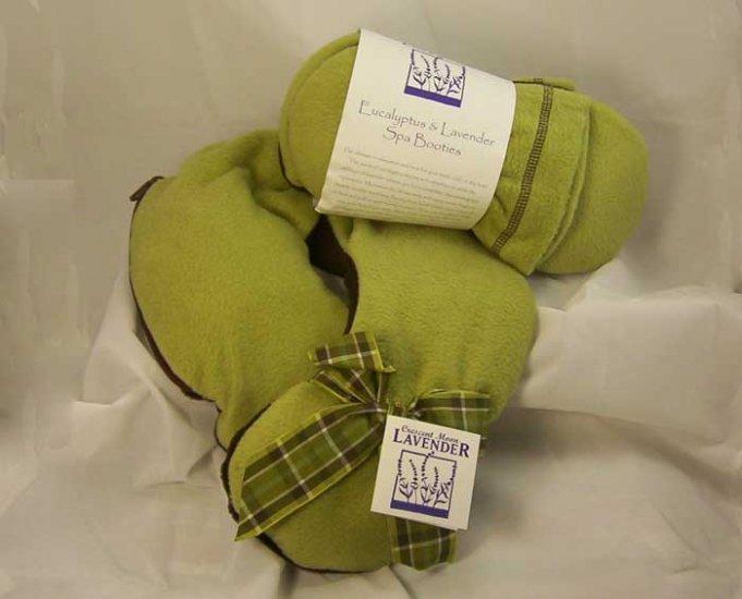 Crescent Moon  Eucalyptus & Lavender Neck Pillow PLUS Spa Booties