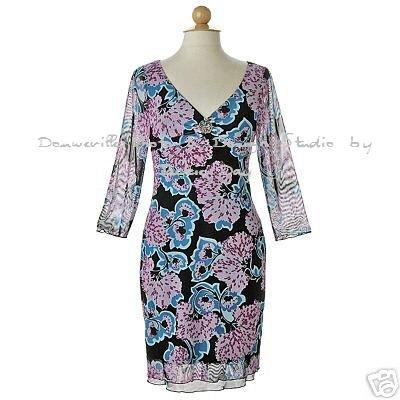 JANE STREET Mesh Printed Dress Floral Pink & Black Colored SM