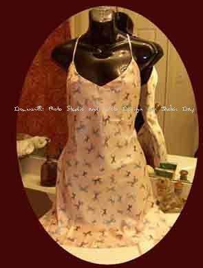 Victoria's Secret ROSE PINK CHEMISE SLIP BOW PRINT Medium