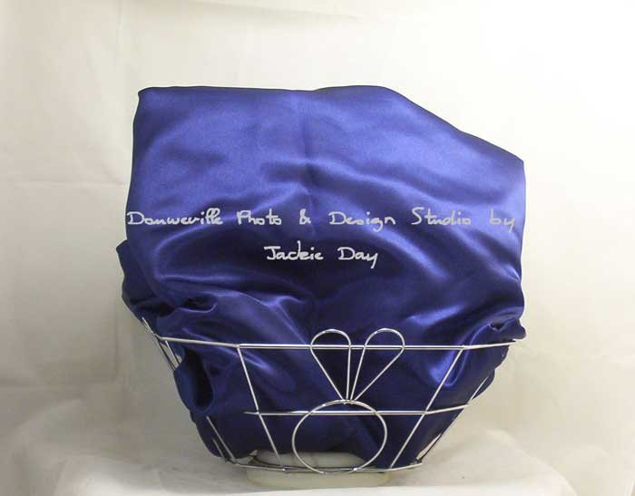 Victoria's Secret NAVY Satin Sheet Bedding Set FULL