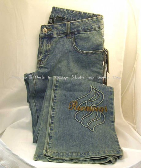 Rocca Wear STRETCH FLAME JEAN Blue Denim Low Rise 9/10