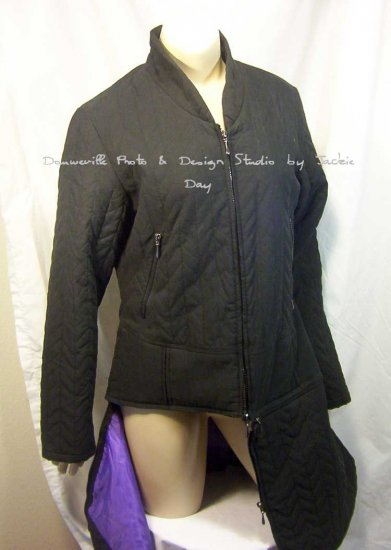 Suzanne Somers Convertible Duster Quilted Zip Jacket Medium
