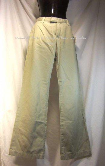 Lucky Brand LIEUTENANT PANT Khaki Chino Flat Front Size 6
