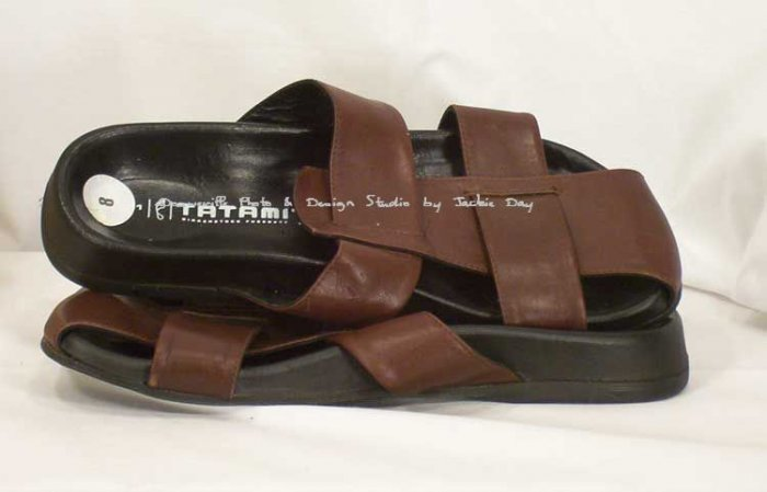 TATAMI BIRKENSTOCK LINCOLN Sandal Mens Leather Brown 8M