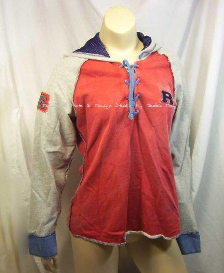 Victoria's Secret Cotton Baseball Lace Up Jogger Running Suit Flare L