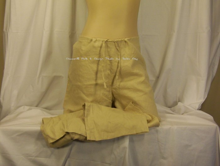 Victorias Secret Low Rise Pull-On Linen Drawstring Pant Small