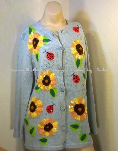 Limited Edition: Storybook Knits SUNFLOWER AMORE Sweater Small