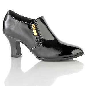 AJ. Valenci Black Patent Leather Comfort Shootie Size 9M  # 251-993