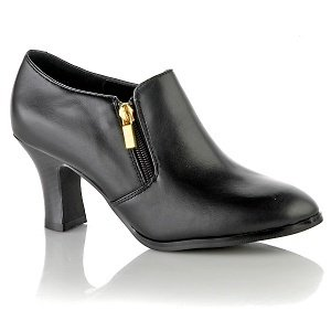 AJ. Valenci BLACK Leather Comfort Shootie Size 11W # 251-993