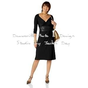 LUKASTYLE SWRAP Techno Jersey Long Sleeve Dress BLACK Small