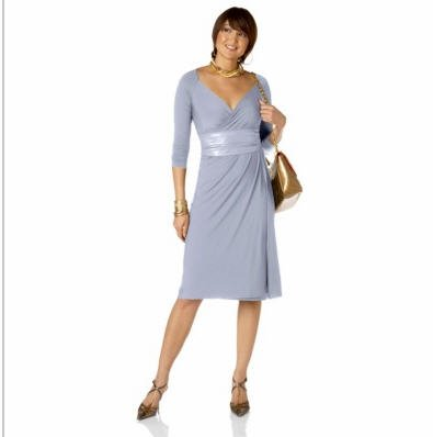 LUKASTYLE SWRAP Techno Jersey Long Sleeve Dress SKY Large