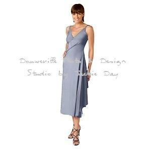 LUKASTYLE SWRAP Techno Jersey Long Sleeve Dress SKY Small