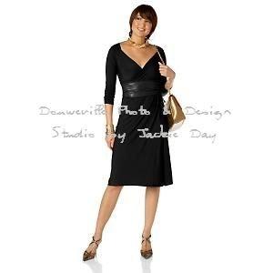 LUKASTYLE SWRAP Techno Jersey Long Sleeve Dress Black Medium