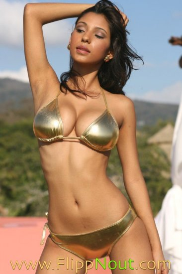Sin City Metalic Gold Or Red String Bikini Swimsuit