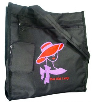 Classy Red Hat Society Lady Purse