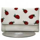 Cute White Ladybug Print Mini Wallet