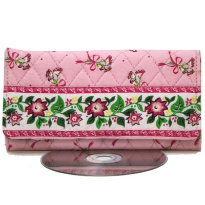 Powder Pink Quilted Checkbook Clasp Purse Wallet