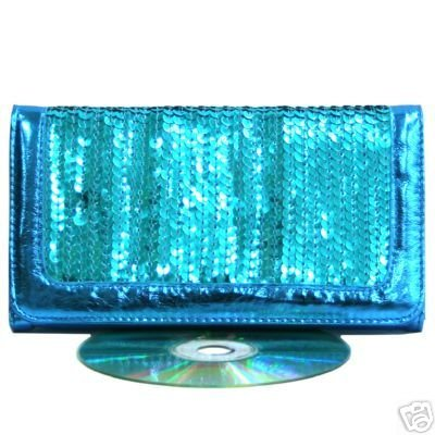 Sexy Turquoise Aqua Blue Sequin Clasp Purse Wallet