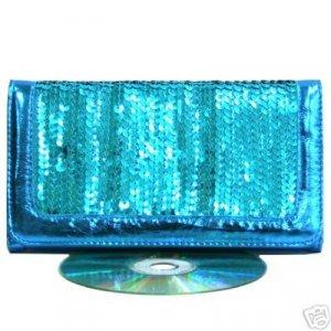Sexy Turquoise Aqua Blue Sequin Clasp Purse Wallet