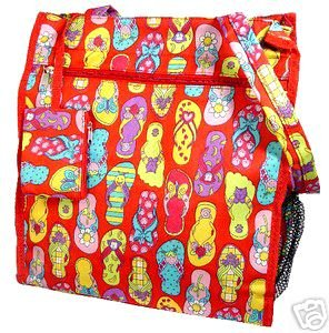 Cute and Fun Red Flip Flop Diaper Bag Beach Bag Tote Purse