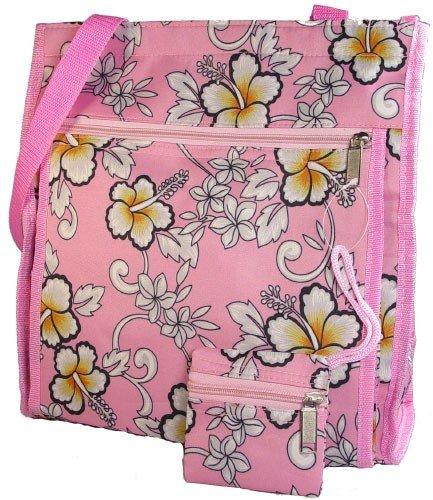 Pink #2 HAWAIIAN Floral Print Purse Diaper Beach Bag