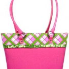 Plaid and Lace Pink Purse and Wallet Set #2