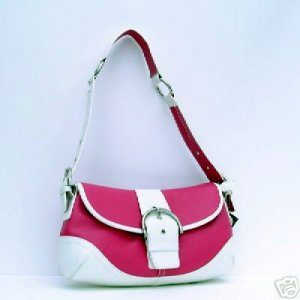 Trendy Belted Hobo Purse Hot Pink