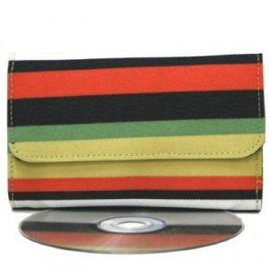 Trendy Orange Stripe Mini Wallet
