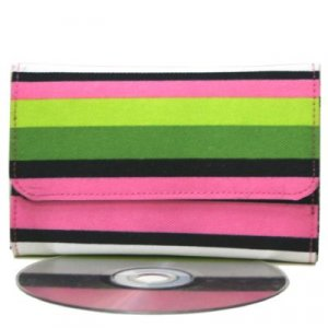 Trendy Pink Stripe Mini Wallet