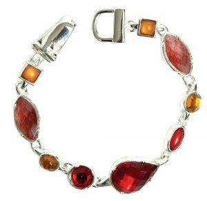 Red and Citrus Precious Stone Bracelet
