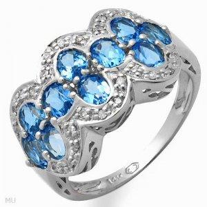 Irresistible Diamond and Topaz Ring  2.10ctw