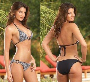 2 Piece Reversible Sequin Lined Bikini