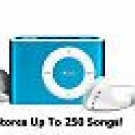 1 Gb Blue Clip On MP3 Player