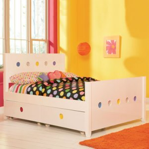 LittleMissMatched SKETCHoRAMA Twin Size Bookcase Bed