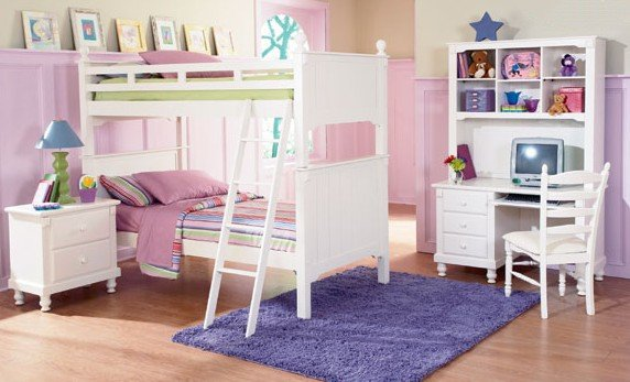 Casual Kids Twin Size Bunk Bed