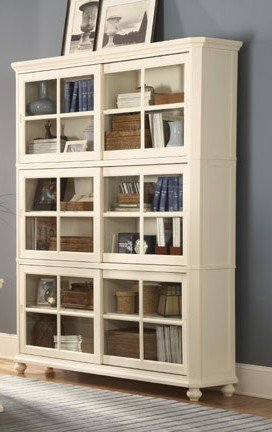 MODERN WHITE HOME OFFICE BOOKCASE FURNITURE CABINET