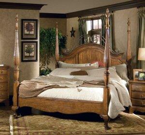 HERITAGE MASTER BEDROOM KING SIZE POSTER BED FURNITURE