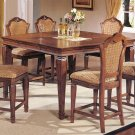 TRANSITIONAL WALNUT COUNTER HEIGHT DINING TABLE SET