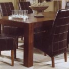 SUMMIT WALNUT PARSON CHAIRS DINING TABLE SET FURNITURE