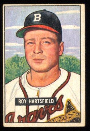 BOSTON BRAVES ROY HARTSFIELD 1951 BOWMAN # 277 VG+