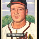 BOSTON BRAVES ROY HARTSFIELD 1951 BOWMAN # 277 VG+