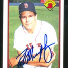 BOSTON RED SOX ROB MURPHY AUTOGRAPHED 1989 BOWMAN # 22