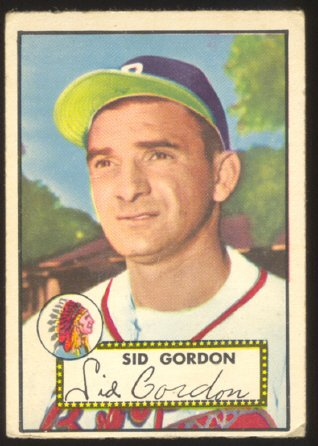 BOSTON BRAVES SID GORDON 1952 TOPPS #267 VG