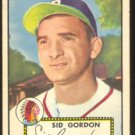 BOSTON BRAVES SID GORDON 1952 TOPPS #267 VG