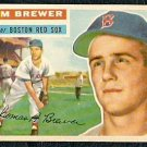 BOSTON RED SOX TOM BREWER 1956 TOPPS # 34