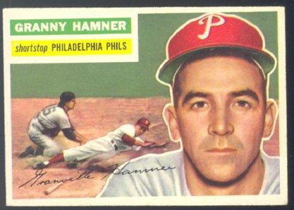 PHILADELPHIA PHILLIES GRANNY HAMNER 1956 TOPPS 197 E/EM