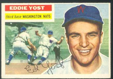 Washington Nationals Eddie Yost 1956 Topps # 128 EX